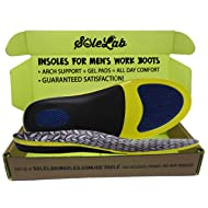Insoles for Men's Work Boots :: Full Length :: Comfort Orthotic :: Replacement Inserts with...