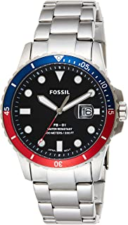 Fossil Mens Quartz Watch, Analog Display and Stainless Steel Strap FS5657