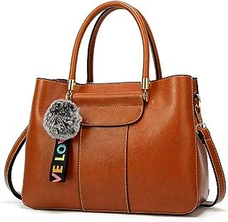New Women's Handbags Women's Wild Fashion Personality Handbags Simple One-Shoulder Fashion Messenger Bag (Color : Brown, Size : M)