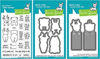 Lawn Fawn For You, Deer Stamps, Dies, and Add-On Dies Set - Includes For You Deer Stamps (LF1480), Lawn Cuts Dies (LF1481) and Add-On Dies (LF1482)