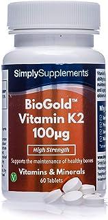 Vitamina K2 100mcg (Menarquinona) - Apto para veganos - ¡Bote para 2 meses! - SimplySupplements