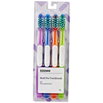 Amazon Brand – Solimo Multi Pro All-in-one Toothbrush (Pack of 4)