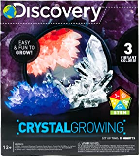 Discovery Crystal Growing Kit by Horizon Group USA, DIY STEM Science, Make Your Own 3 Colorful Crystals