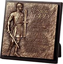 Lighthouse Christian Products Moments of Faith Small Square Armor of God Sculpture Plaque, 5 3/4 x 5 3/4