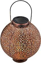 Navaris tuinverlichting - LED solar lamp - Buitenverlichting met sensor - Lantaren op zonne-energie - Decoratieve ronde la...