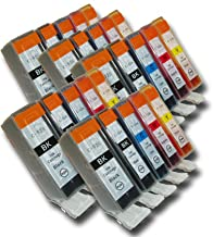 The Ink Squid 25 Chipped Compatible High-Capacity Canon PGI-525 & CLI-526 Ink Cartridges for Canon Pixma Printers
