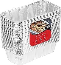 Aluminum Pans Mini Loaf Pans (30 Pack) Disposable Aluminum Foil 1 Lb Small Bread Tin Pans - 1 Pound Loaf Pans - 6 x 3.5 x 2
