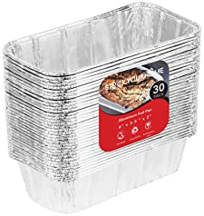 22 Ounce 50 Pack Disposable Aluminum Foil Bread Baking Tins 8.5 x 2.5 x 4.5 inches Juvale Loaf Pans with Lid