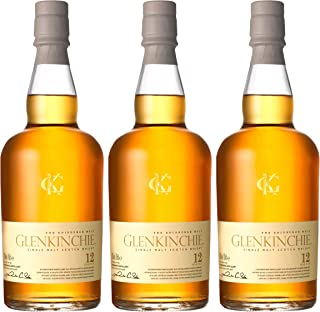 Glenkinchie 12 Years/Jahre, 3er, Single Malt, Whisky, Scotch, Alkohol, Alokoholgetränk, Flasche, 43%, 700 ml, 605392
