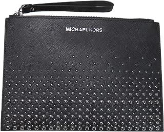 Michael Kors Jet Set Travel Saffiano Leather XL Zip Clutch Black