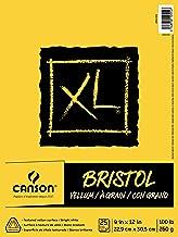 "Canson XL Series Bristol Vellum Paper Pad, Heavyweight Paper for Pencil, Vellum Finish, Fold Over, 9"" x 12"""