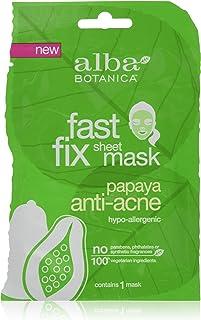 Alba Botanica Fast Fix Sheet Mask, Papaya Anti-Acne, 1 Ounce
