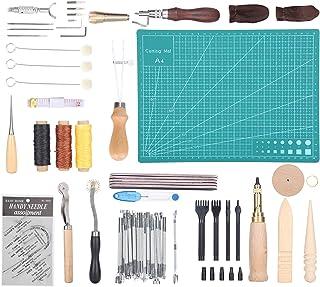 Leer stempelen DIY lederen knutselgereedschappen Lederen knutselgereedschappen Set handgemaakte gereedschappen voor doe-he...