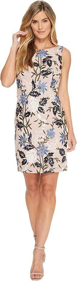 Ivanka Trump - Sequins Floral Sheath Dress