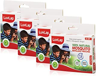 Luvlap Natural Mosquito Repellent Patch, 12 Pieces (Pack of 4)