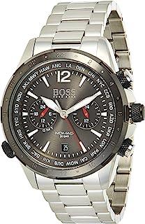 Hugo Boss Mens Quartz Wrist Watch, Chronograph and Stainless Steel- 1513774