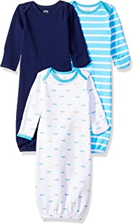 Amazon Essentials Baby Boys 3-Pack Sleeper Gown