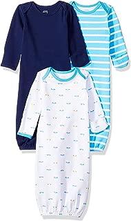 Amazon Essentials Boys' Baby 3-Pack Sleeper Gown