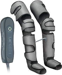 جهاز تدليك الساق، ضغط هواء للساق مع جهاز تحكم محمول باليد للساق - 4 أوضاع - 3 شدات - تدليك 360 درجة للقدم من أجل دوالي الو...