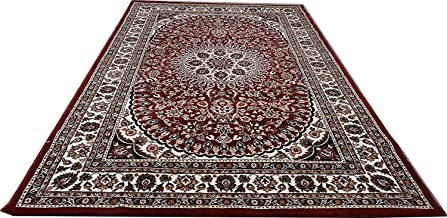 Carpet for Living Room Bedroom Large Size Carpet 6 x 9 Feet High Quality Traditional Carpet Red 0.5 Inch Thick