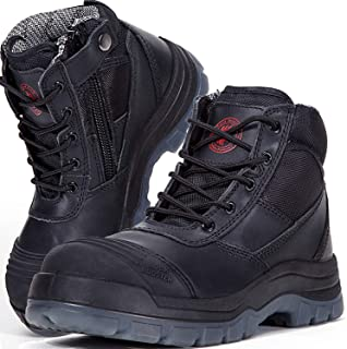 Best mens black work boots Reviews