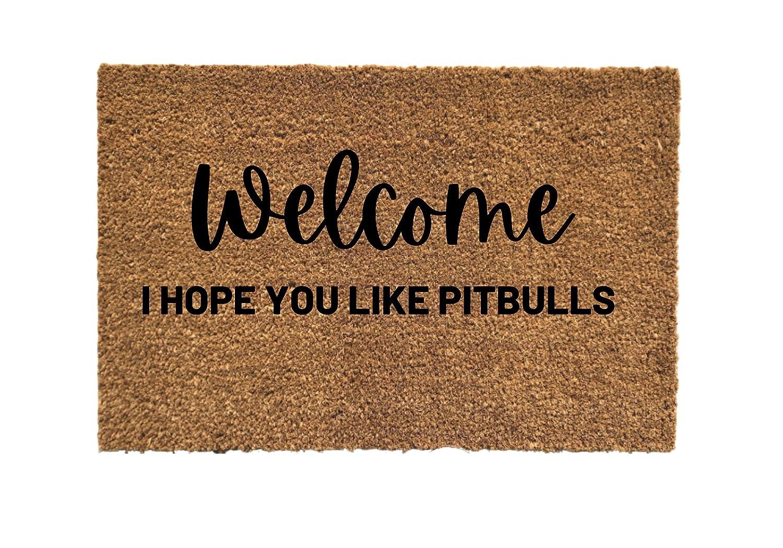 Welcome I hope Max 84% OFF you like Pit d bulls door mat doormat Limited time sale pitbulls