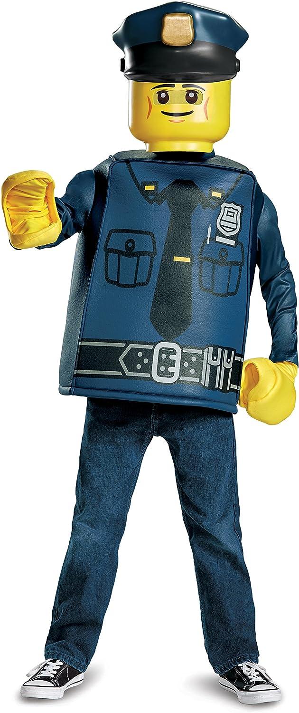 Disguise Polizisten-Kostüm Lego für Kinder Karneval blau-gelb 124 136 (7-8 Jahre) B01N7XU1H0 Hervorragende Eigenschaften  | eine große Vielfalt