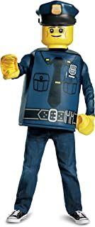 Disguise Lego Police Officer Classic Costume, Blue, Medium (7-8)