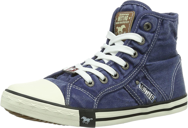 Mustang Women's 1099-502-841 Hi-Top Sneakers, blue (Jeansblue 841)
