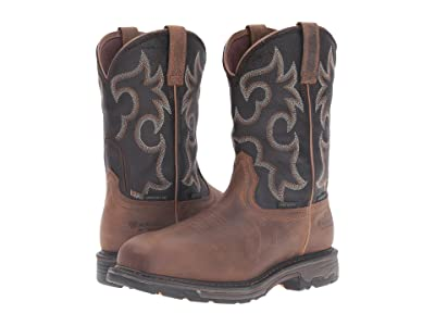 Ariat Workhog Wide Square CT WP Insulated (Rye Brown/Coffee) Men