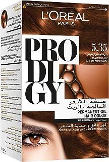 L'Oreal Paris Prodigy Permanent No Ammonia Hair Color, 5.35 Mahogany Golden Brown