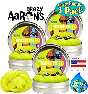 Crazy Aaron's Speckle Thinking Putty Mini Tins (.47oz Each) Surf Shack Gift Set Party Bundle - 3 Pack