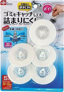 レック 詰まりにくい 洗面台用 ゴミストッパー (5個入) 特許出願中 BB-507
