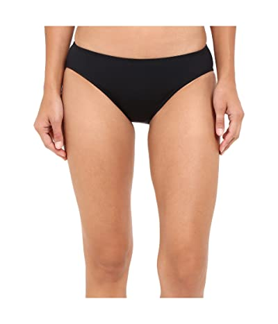 LAUREN Ralph Lauren Chevron Solid Hipster Bottom (Black) Women