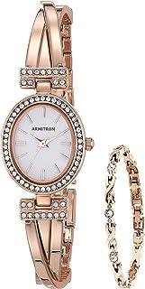 ساعة وسوار مزين بالكريستال من ارمترون للنساء , 75/5381