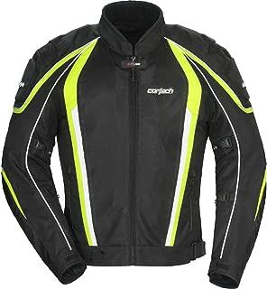 Cortech GX Sport Air 4.0 Adult Mesh Road Race Motorcycle Jacket - Black/Hi-Viz Yellow/Medium
