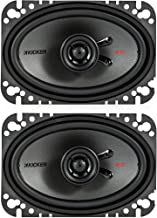 $80 » KICKER 47KSC4604 KS Series Low Profile 4x6 Inch 4 Ohm 15 to 75 Watts RMS Power Factory Replacement Coaxial Car Audio Sound...