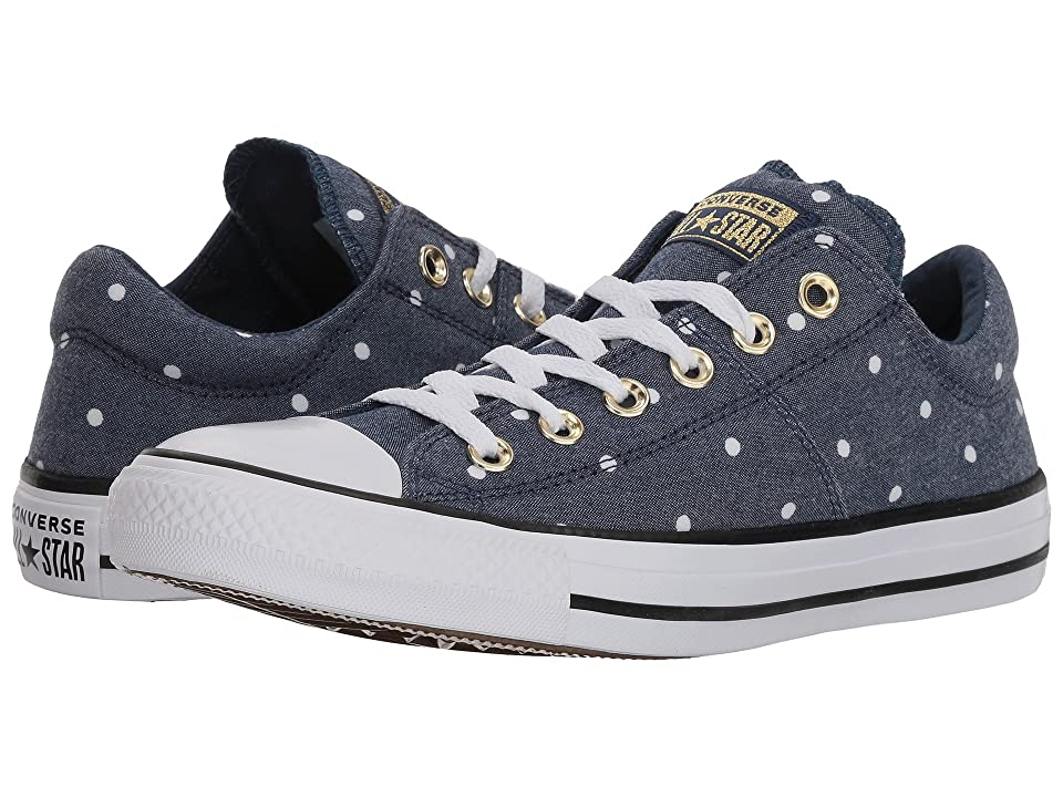 Converse Chuck Taylor(r) All Star(r) Madison Ox Mini Dots (Navy/Gold/White) Women