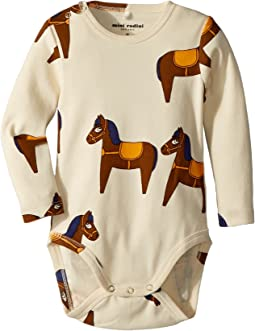 mini rodini - Horse Long Sleeve Bodysuit (Infant)