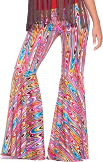 Forum Novelties Women's Generation Hippie Wild Swirl Bell-Bottom Costume Pants
