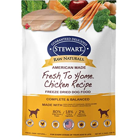 Stewart Raw Naturals Freeze Dried Dog Food Grain Free Made In Usa With Chicken Fruits Vegetables For Fresh To Home All Natural Recipe Trial Size Pet Supplies