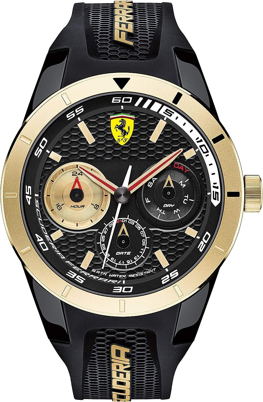 Reloj Scuderia Ferrari para Hombre 0830380, Negro (Negro/Dorado)