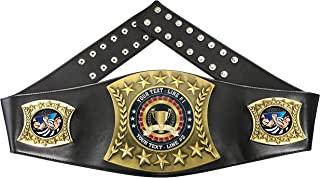 Custom Arm Wrestling Trophy Personalized Championship Leather Belt FCL407