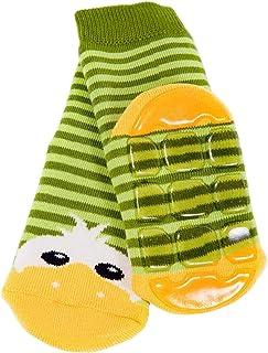 Weri Spezials Calze alte in spugna ABS. Design: anatroccolo allegro per Bimba 5-6 anni Verde