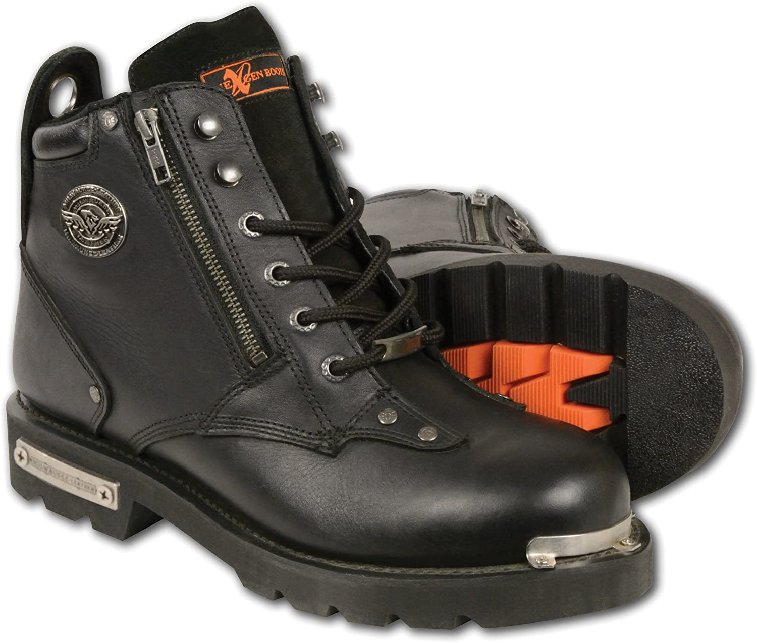 Milwaukee Leather Men's Classic Motorcycle Boots (Black, Size 11.5)