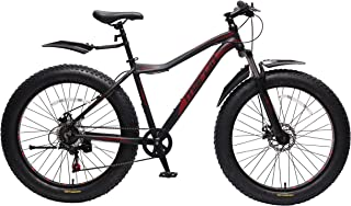 Marlin Fat Boy 4.0 Black-Red Aluminium Alloy Fatbike with Front Suspension