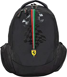 "FERRARI SILVER HORSE BLACK BACKPACK 18"" BP"