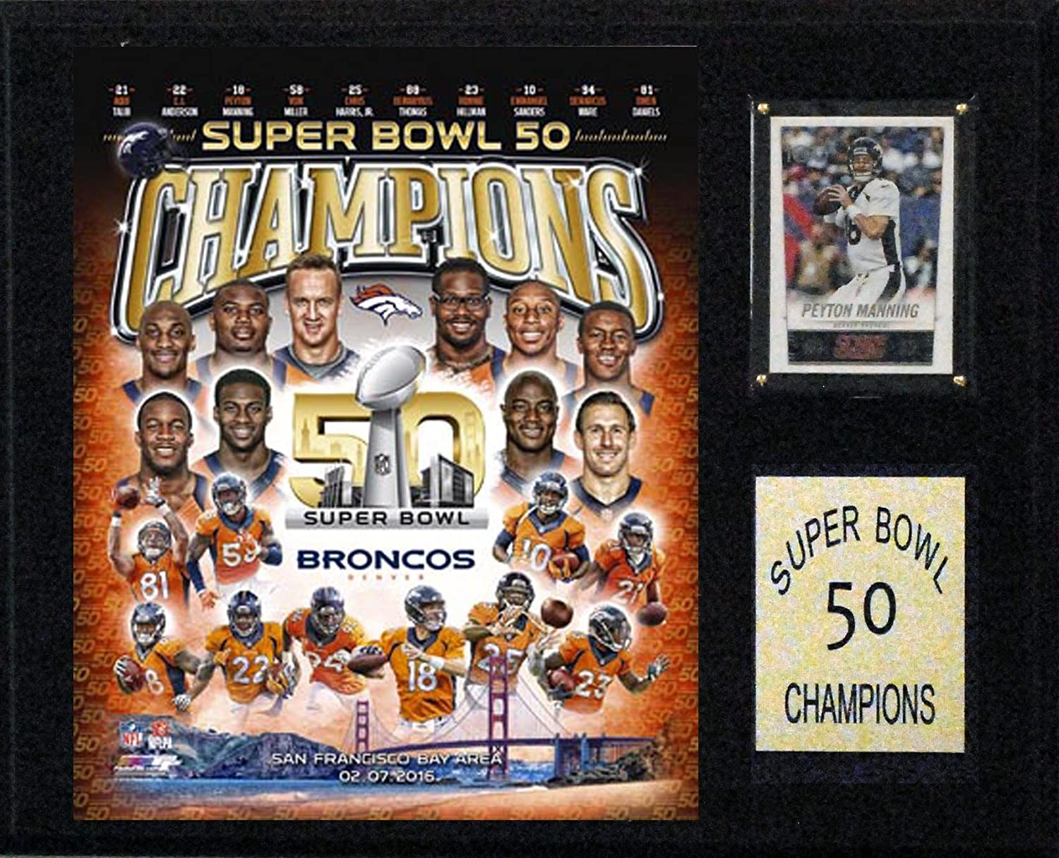 CI Collectables NFL Super Bowl Plaque Fashion Popular products Champions 50 Frame