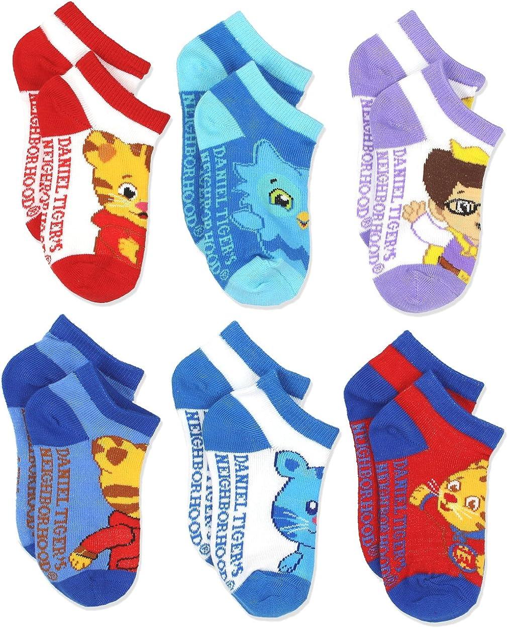 Toddler Daniel Tigers Neighborhood Boys 6 pack Socks