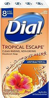 Dial Antibacterial Deodorant Bar Soap, Tropical Escape, 4 Ounce, 8 Bars